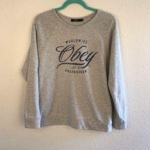 OBEY | Worldwide Propaganda Gray Fleece Pullover